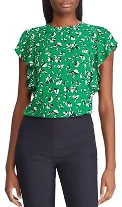Ralph Lauren Floral Flutter-Sleeve Top