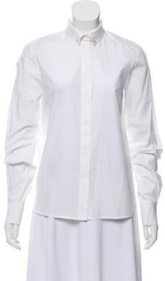 Stella McCartney Long Sleeve Button-Up Top White Long Sleeve Button-Up Top