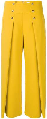 Genny cropped flared trousers