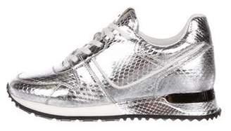 Louis Vuitton Snakeskin Run Away Sneakers