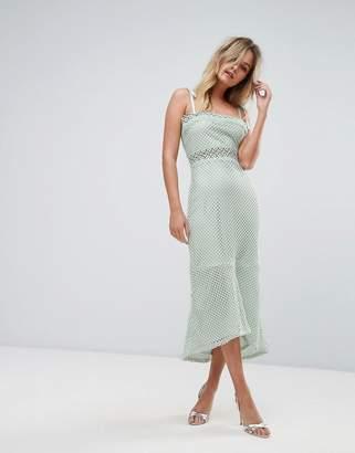 Vero Moda Lace Insert Midi Dress