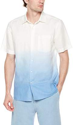 Isle Bay Linens Men's Slim Fit Dip Dye Short Sleeve Shirt