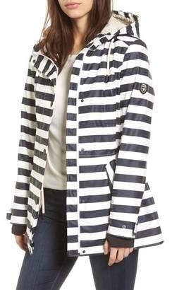 1 Madison 30 Stripe Hooded Raincoat