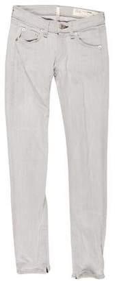 Rag & Bone Zipper Capri Low-Rise Jeans
