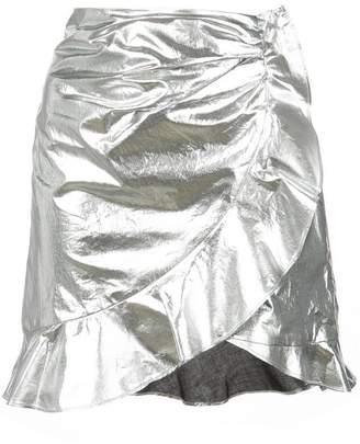Isabel Marant shiny ruffled mini skirt