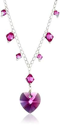 Swarovski Elements Crystal Heart and Bicone Multi-Drop Necklace