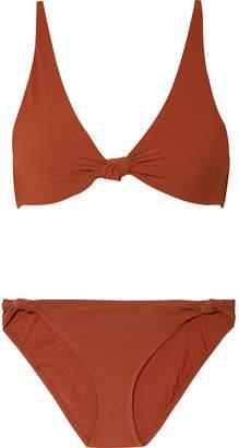 Tory Burch Biarritz Knotted Bikini - Brick