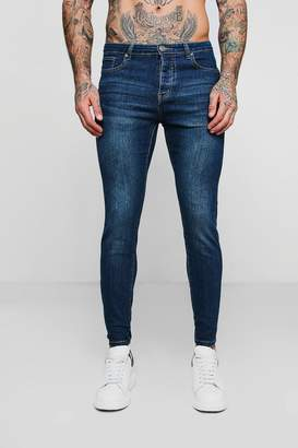 boohoo Skinny Fit Jeans In Blue Wash
