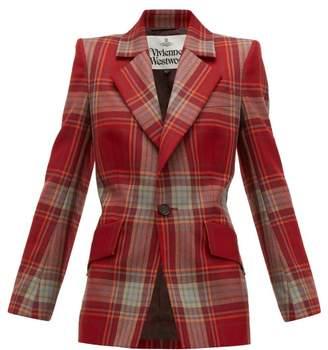 Vivienne Westwood Lou Lou Single Breasted Tartan Wool Jacket - Womens - Red Multi