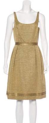 Carmen Marc Valvo A-Line Scoop Neck Dress