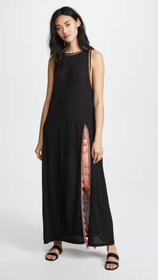 Pitusa Tassel Slit Dress