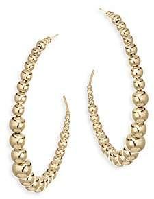 Kenneth Jay Lane Gold Ball Circle Earrings