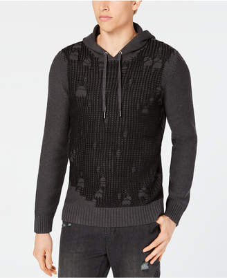 INC International Concepts I.N.C. Men's Hooded Flatline Sweater, Created for Macy's
