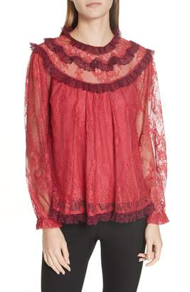 Needle & Thread Scallop Frill Lace Top