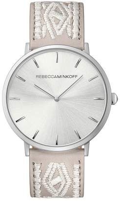 Rebecca Minkoff Women's Major Leather Strap Watch, 40mm