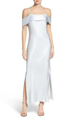 Women's Bardot Off The Shoulder Satin Dress $109 thestylecure.com