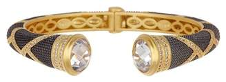 Freida Rothman Textured Ornaments Open Cuff Bracelet