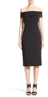 Women's Lafayette 148 New York Jersey Off The Shoulder Dress $648 thestylecure.com
