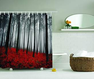 Ambesonne Fabric Shower Curtain Farmhouse Country Home Woodland Decor by
