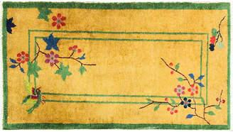 One Kings Lane Vintage Art Deco Chinese Rug - 2' x 4' - Eli Peer Oriental Rugs