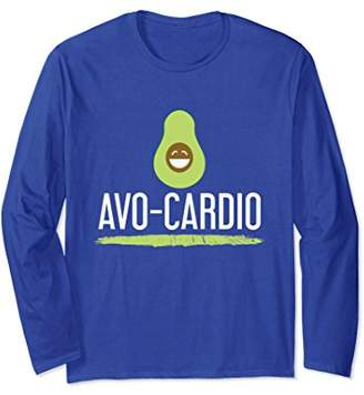 Avo Cardio Avocado Funny Fitness Pun Long Sleeve Tee Shirt