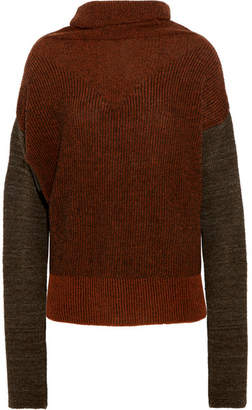 Vivienne Westwood Anglomania - Wilder Striped Wool-blend Bouclé Turtleneck Sweater - Brick