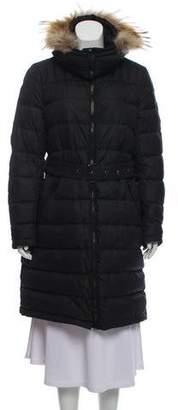 Belstaff Wessex Fur-Trimmed Coat w/ Tags