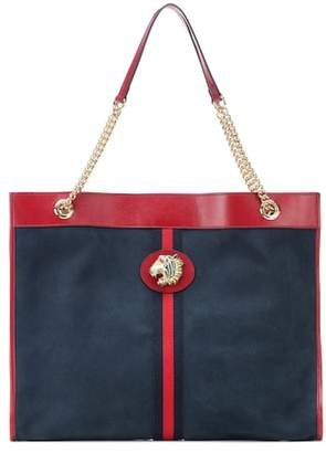 Gucci Embellished suede tote