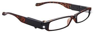 LIGHTSPECS NIGHT CHEATER Ultra Bright LED Lighted Lightweight Recatangular Reading Glasses