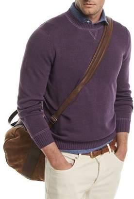 Brunello Cucinelli Crewneck Linen-Blend Sweater