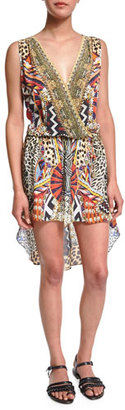 Camilla Camilla Embellished Coverup Dress, Bird's Eye View $430 thestylecure.com
