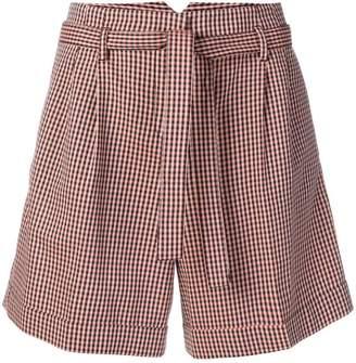 Paul Smith tie-waist check print shorts