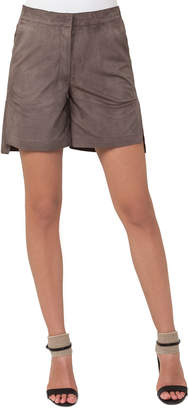 Akris Nubuck Leather Bermuda Shorts