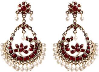 Amrita Singh Crystal & Glass Pearl Earrings