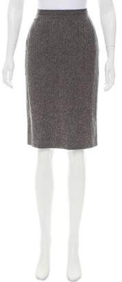 Dolce & Gabbana Virgin Wool Knee-Length Skirt