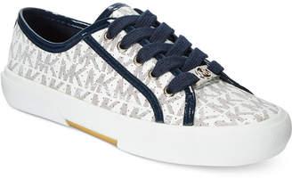 Michael Kors Girls'or Little Girls Ima Boerum Logo Sneakers $39 thestylecure.com