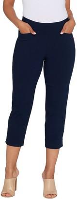 Susan Graver Regular Uptown Stretch Pull-On Crop Pants