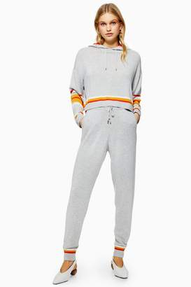 Topshop Striped Joggers with Cashmere