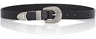 Barneys New York Women's Leather Western Belt - Black