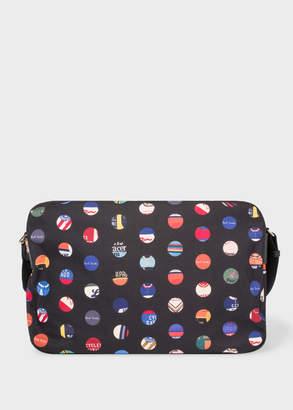 Paul Smith Men's 'Cycle Dot' Print Canvas Messenger Bag