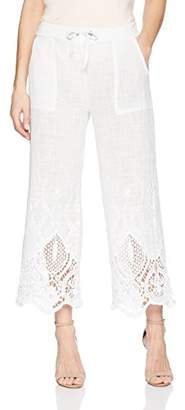 XCVI Women's Tangerine Pant-Meli Embroidered Gauze