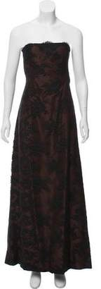 Isaac Mizrahi Strapless Lace Gown