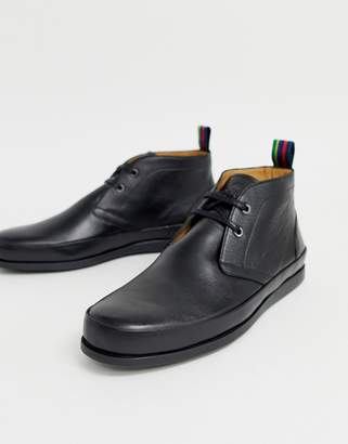 342402c46e4c Paul Smith Cleon derby high top leather shoe in black