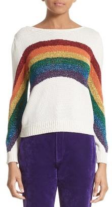 Women's Marc Jacobs Rainbow Cotton Blend Sweater $295 thestylecure.com