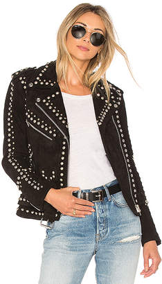 Understated Leather Easy Rider Studded Jacket