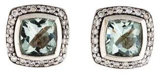 David Yurman Prasiolite & Diamond Albion Stud Earrings