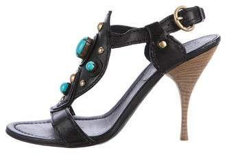 Miu Miu Embellished Slingback Sandals