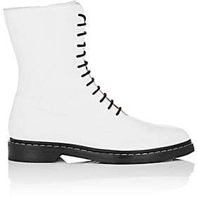 The Row Women's Fara Leather Combat Boots - White