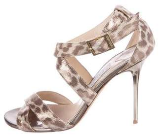Jimmy Choo Leather Ankle Strap-Sandals
