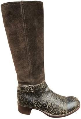 Miu Miu Leather riding boots